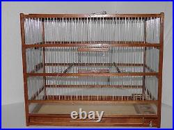 Big Birds Aviary, Amazing Wooden Hand Crafted Slide Out Tray, Plexiglas