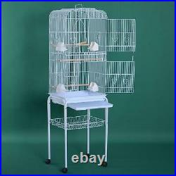 Bird Cage 59 Large Finch Parrot Conure Metal Wheels Play Top House Pet Supplies