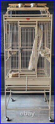 Bird Cage 64 Large Finch Parrot Conure House Pet on Stand with wheels Supplies
