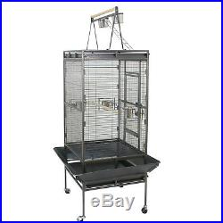 Bird Cage 68 Large Play Top Parrot Finch Cage Macaw Cockatoo Pet Supply