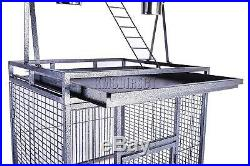 Bird Cage Large Play Parrot Finch Cage Polly Macaw Cockatoo Strong Metal