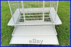 Bird Cage Macaw Cockatoo African Grey Parrot Cage Q27-3223 White Vein