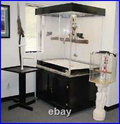 Bird Cage, Medium to Large Cage for Parrots, Macaws, Amazons with Black Base