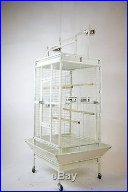 Bird Cage for Parrot Macaw Cockatoo Conure Finch With Play-Top
