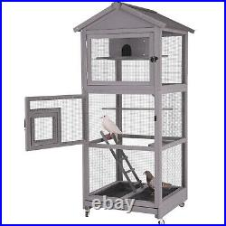 Bird Cages Bird Aviary Parakeet Cage with Perch Large Dove cage with Pull Out Tray