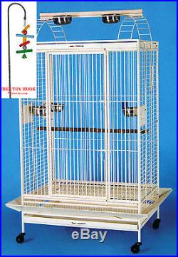 Bird Parrot Open Play Top Cage Cockatiel Macaw Conure Aviary Pet Supply Finch472