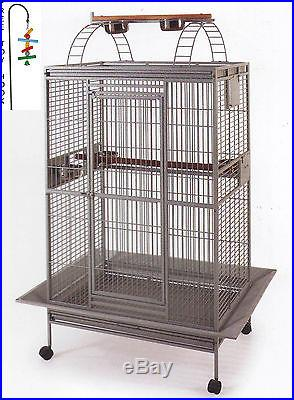 Bird Parrot PlayTop Cage Cockatiel Macaw Conure Aviary Pet Supply Finch House026