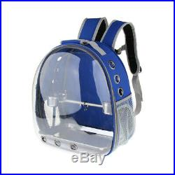 Bird Parrot Travel Carrier Backpack, Space Capsule Bag+Perch Cups+Nappy