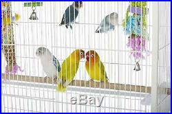 Birdcage Large Flight White Perches Bird Cage Parakeets Finches Canary Enclosed