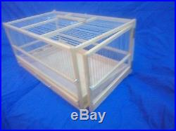 Button Quail Cage Hand Crafted Wooden Quail Cage / Slide Out Tray, Plexiglas