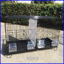 COMBO 4 Stack & Lock Double Breeder Bird Breeding Cages Center Dividers BK219