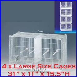 COMBO 4 x Large Stack & Lock Double Center Dividers Breeder Bird Breeding Cages
