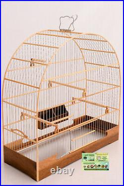 Cage N° 5 Wood Canary For High Quality Birds Wire Fiber