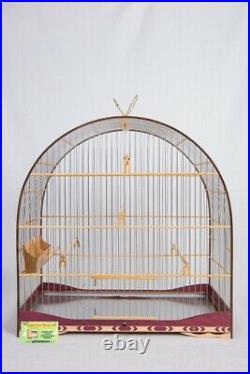 Cage Wood Birds Canary Curio, Red