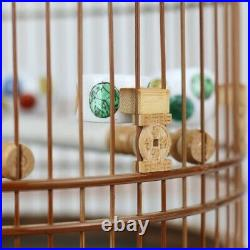 Chinese Old Bamboo Carving circular Bird Cage with Pure hand-made60323