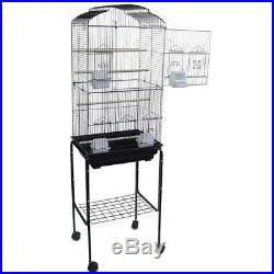 Cockatiel Parakeet Finch Canary Cage Bird Cage WithBlack Rolling Stand 6803-117