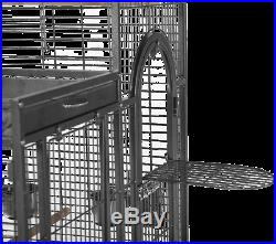 Deluxe Parrot Bird Cage with Play Top Smartly Constructed Shelter Crafted Steel