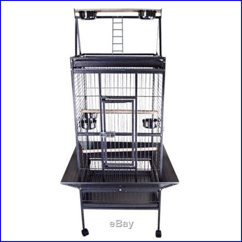Dome 24x22x67 Bird Parrot Pet Cage Cockatiel Macaws Conures Aviary Flight Finch