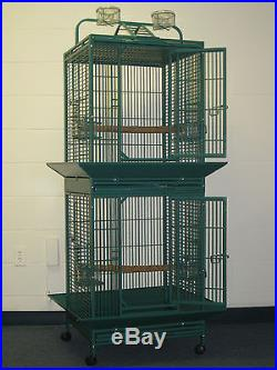 Double Decker Stack Bird cage Parrot Cage 24x22x71 dwi245