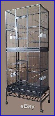 Double Style pet Cage Bird cage small animal cage parrot cage cocktail cage