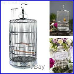 Elegant Bird Cage Round Whimsical Quaint For Finches Parakeets Canary Wedding