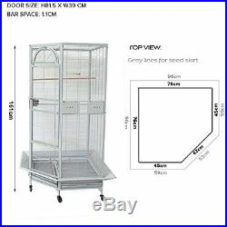 Extra Large 63 Corner Cage For Cockatiel Parakeet Budgies Aviary Seed Skirts 9