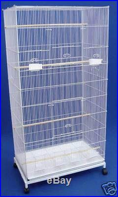 Extra Large Aviary Bird Parakeet Finch Canary Bird Cage With Stand White