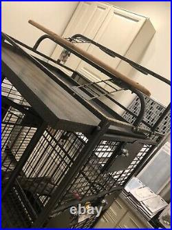 Extra Large Bird Cage DeepCleaned. 78x28x36 Toys And Bowls Included+ 3 Trays