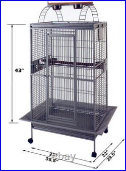 Extra Large Castle PlayTop Parrot Cage 28W x 22L x 75H For Macaws Cockatoos
