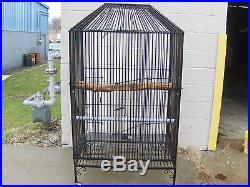 Extra Large Heavy Duty Bird Cage Huge Wrought Iron Parrot, Macaw Monkey NICE