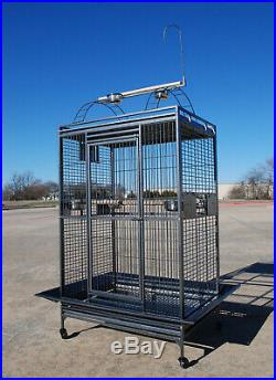 Extra Large Lani Kai Lodge Open PlayTop Large Parrot Bird Cage With Stand 047