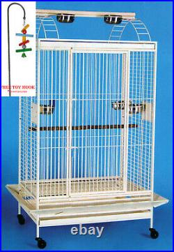 Extra Large Open Play Top Toy Hood Double Ladder Parrot Cage Conure Cockatiel