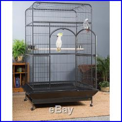 Extra Large Pet Bird Cage Macaw Living Space Home XL Pull Out Bottom Grille Tray