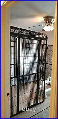 Extra large bird cage Approx 110X65X89 Only used indoor
