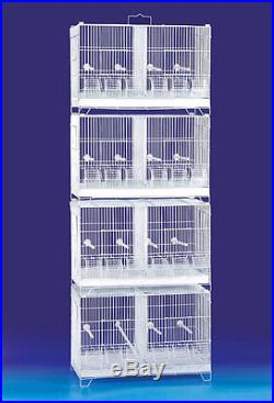 FLYLINE 80411 Stackable Breeding Bird Cage for Canary Finch Small Birds
