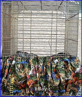 Fabric Bird Seed Catcher Skirt Cages 86-144 #5 you state color or patter