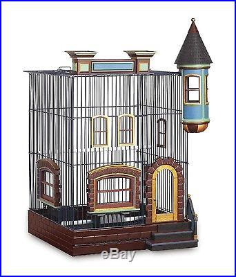 Featherstone Bird Cage Classic Vintage 2 Plastic Cups Parrot Top Parakeet New