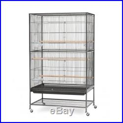 Flight Bird Cage Large Wrought Iron Pet Stand Aviary Cockatiel Parrot Finches