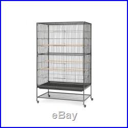 Flight Bird Cage X Large Wrought Iron Pet Stand Aviary Parrot Cockatiel Finches