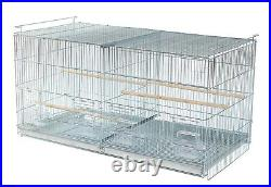 Galvanized Large CAMBO-4 of Bird Finches Canaries Flight Breeding Cages WithStand