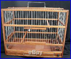 Hand Crafted Wooden Bird Cage Slide Out Tray, Plexiglas