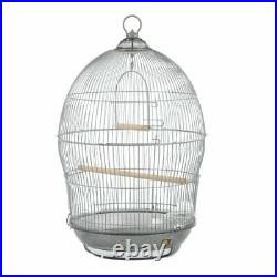 Hanging Bird Cage Vintage Small Parrot Wood Perches Shelter Home Aviary Finch US