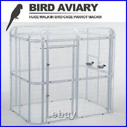 Heavy Duty Large Iron Wire Bird Cage Parrot Cockatiel Macaw Finch Walk In Aviary