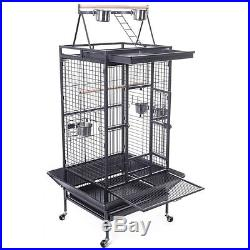 Homey Pet Parrot Macaw Cockatoo Conure Finch Bird Cage with Play-Top