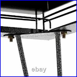 IKayaa Wrounght Iron Bird Parrot Cage 3 Openable Doors with Sliding Out Tray M4V8