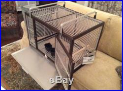 KINGS CAGES LARGE ALUMINIUM PARROT TRAVEL CARRIERS CAGE 2029 bird cages