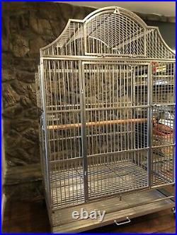 Kings Cages Stainless Steel European Style 406 Macaw Bird Parrot Cage