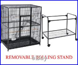LARGE Stackable Double Bird Cockatiel Sugar Glider Wrought Iron Animal Cage 292