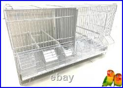 LOT 4 Stack & Lock Double Breeding Bird Flight Aviary Cages With Center Divider