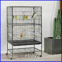 Large 132cm Metal Parrot Cage For Birds, Parrot, Cockatoo, LoveBird With Trays